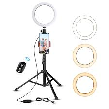 "8"" Selfie Ring Light with Tripod Stand & Cell Extendable 